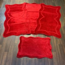 ROMANY WASHABLES NEW GYPSY SETS OF 4PC NICE RED MATS NON SLIP TOURER SIZE NICE